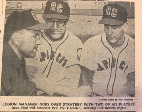 Coach Ploof, Paul Treick and Rick Hatfield