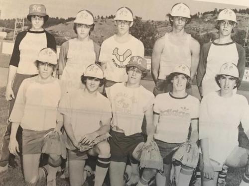 15 Year Old Rookies, 1977: Roger Lewis, Shane Flahart, Jeff Mills, Brian Baker, Bernie Delzer, Jeff Coleman, Dave madden, Troy Mehlhaff, Jay Erickson, Bill Beaird