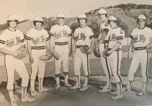 MoundsMen: Terry Brewer, Pete Melendez, Chuck Delzer, Mark Harris, Jim Hendrickson, Steve Wolff, Jeff Andrews